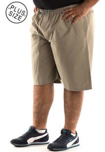 Bermuda Konciny Sarja Plus Size Verde - Verde - Masculino - Dafiti