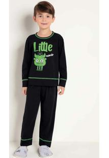 Pijama Infanto Juvenil Preto Bela Notte