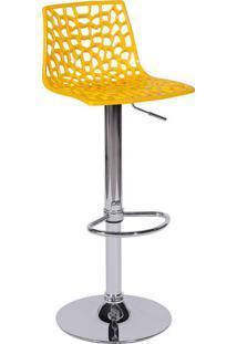 Banqueta Spider- Amarela & Prateada- 102X37X34Cmor Design
