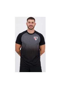 Camisa Sáo Paulo Gino Preta E Cinza
