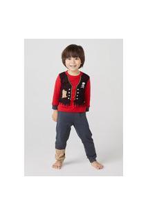 Pijama Infantil Menino Longo Pirata Toddler