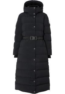 Burberry Hooded Puffer Coat - Preto