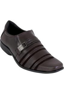 Sapato Marrom Em Sintético