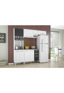 Cozinha Compacta Isadora 4 Peças 11 Portas 2 Gavetas Em Mdp Poquema