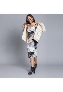 Vestido Mídi Justo Estampa Los Angeles - Lez A Lez