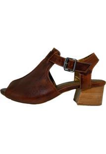 Sandália Comitiva Boots Open Boot Couro Atanado Sela
