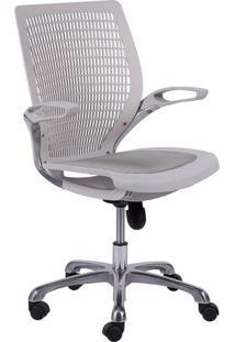 Cadeira De Escritório Age- Branca- 100X60X48Cm- Or Design