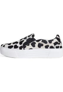Sneaker Balaia Mod144 Em Couro Coração Branco