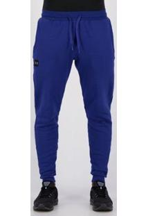 Calça Under Armour Rival Fleece Jogger Masculina - Masculino-Azul