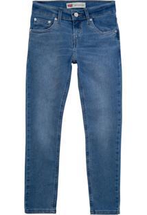 Calça Jeans Levis 512 Slim Taper Infantil - 20002 Azul