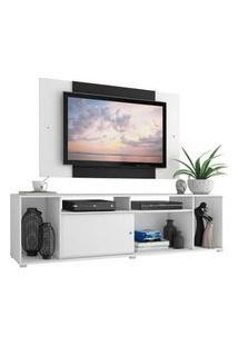 Rack Madesa Cancun E Painel Para Tv Até 58 Polegadas Branco/Preto