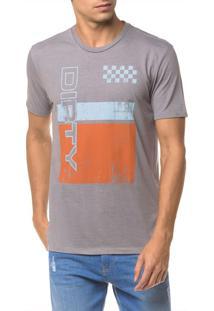 Camiseta Ckj Mc Est Dirty - Grafite - Pp