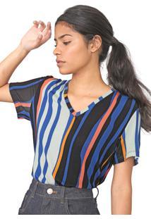 Camiseta Forum Listrada Azul/Verde