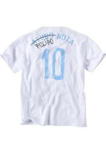 Camiseta Infantil Foliao Reserva Mini Masculina - Masculino-Branco