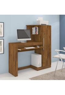 Mesa Para Computador Com Armário 1 Porta Aroeira Jcm Móveis Nobre Soft