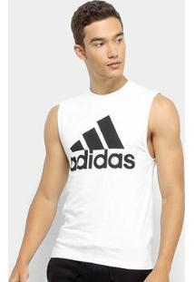 Camisa Regata Adidas Mh Bos Tank Masculina - Masculino-Branco+Preto