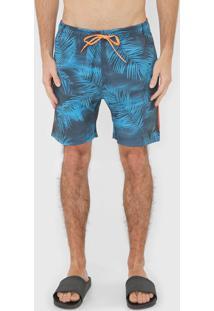 Bermuda ÁGua Oakley Slim Mod Orange County Azul/Laranja - Azul - Masculino - Dafiti