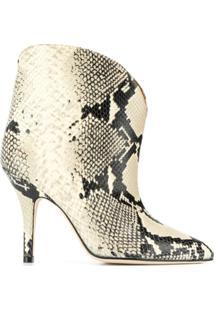 Paris Texas Ankle Boot Com Estampa Pele De Cobra - Preto