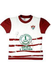 d52aa9f335 Baby Look Esporte É Energia Meia Malha Menina Fluminense Reve Dor - G -  Feminino