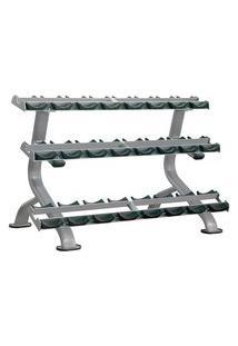 Estante Tripla Para 12 Pares (Dumbell Rack) Wellness -Em022