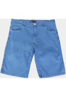 Bermuda Preston Plus Size Básica Masculina - Masculino-Azul