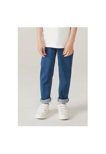 Calça Jeans Infantil Menino Moletom Skinny