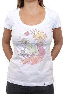 Lava Surfing - Camiseta Clássica Feminina