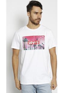 Camiseta Coqueiros & Inscriã§Ã£O - Branca & Rosa Clarolevis