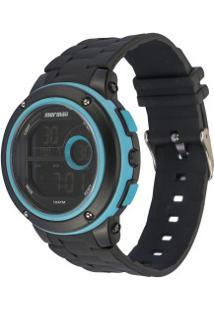 Relógio Digital Mormaii Mo8740Ab - Unissex - Preto/Azul