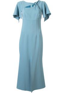 Ginger & Smart Vestido Curator Com Detalhe Torcido - Azul