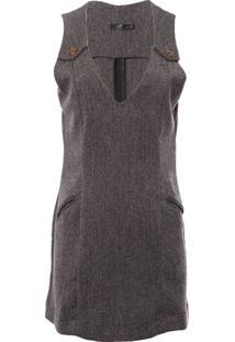 Vestido Curto Tweed Shantal - Cinza
