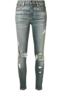 Amiri Calça Jeans Skinny Destroyed - Azul