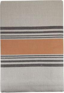 Toalha De Mesa Retangular Riscas Laranja 170X310Cm - 28157