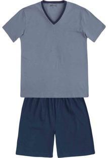 c3e748d91a49a8 Pijama Masculino Em Algodão Com Gola V