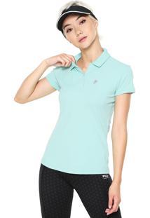 Camisa Pólo Fila Verde feminina  db0c95f6646cd