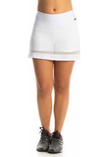 Shorts Saia Com Tela Branco Janfer