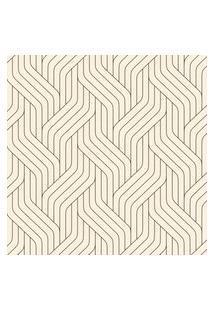 Papel De Parede Claro Com Linhas Geométricas 57X270Cm