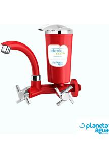 Purificador De Água Para Pia Ideale Eco Vermelho Planeta Água