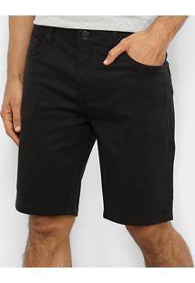 Bermuda Jeans Triton Masculina - Masculino-Preto