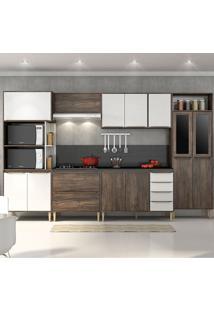 Cozinha Compacta C/Tampo Allure09 – Fellicci - Naturalle / Branco