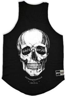 Regata Masculina Tradicional Diet S/3D Skull - Preto-Gg - Masculino