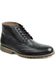 Bota Dress Boot Masculina Polo State - Masculino-Preto