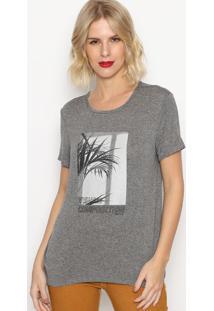 Camiseta Mescla ''Visual Composition''- Cinza & Cinza Esforum