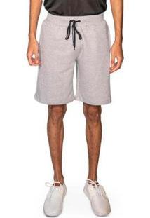 Bermuda Moletom Masculina Skinny Loungewear Conforto Casual - Masculino-Cinza