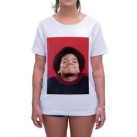 d84faa1db Camiseta Estampada Impermanence Michael Jackson Branca