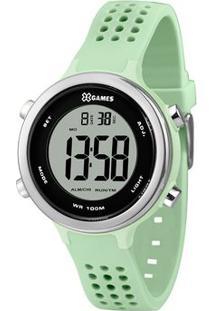 Relógio Digital Quartz Xfppd067Bxfx- Verde Claro & Prateorient