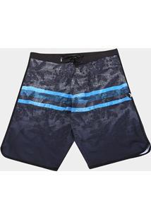 Bermuda Água Hurley Texture Plus Size Masculina - Masculino-Preto
