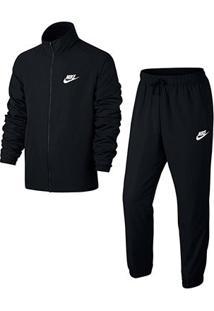 Agasalho Nike Trk Suit Wvn Basic Masculino - Masculino-Preto+Branco