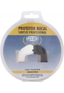 Protetor Bucal Punch Dual Color - Branco/Preto