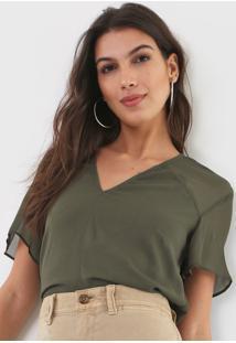 Camiseta Forum Recortes Verde - Kanui